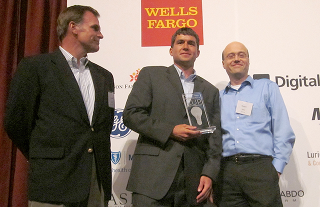 Nathan Conner, center, winner of the Student category