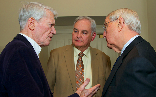 Former Gov. Wendell Anderson, Rep. Lyndon Carlson Sr. and former Vice President Walter Mondale
