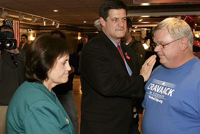 Rep. Chip Cravaack meets with supporters