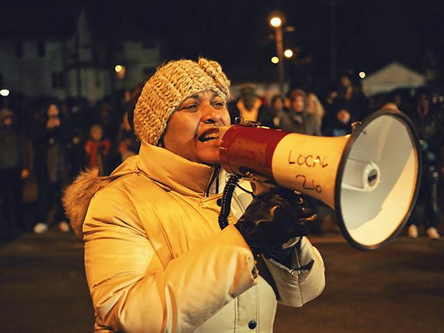 Protester Cathy Jones