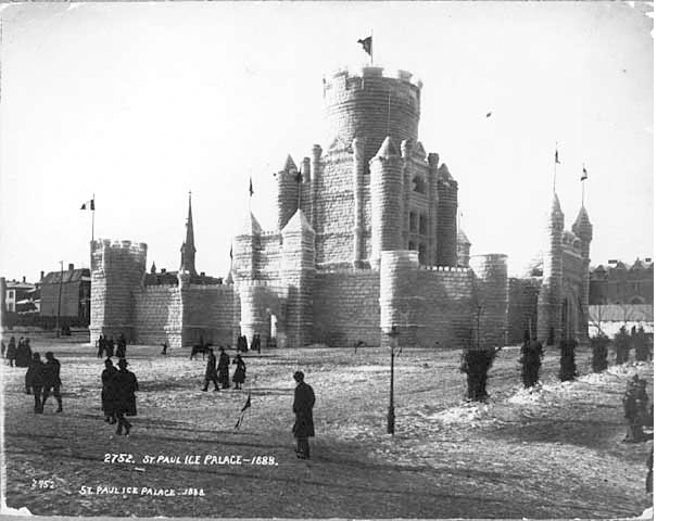 The 1888 Winter Carnival Ice Palace