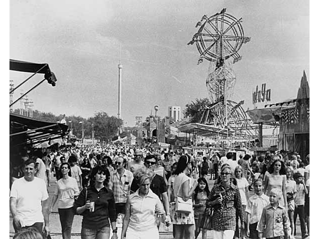 A photo of the Minnesota State Fair Midway in 1971.