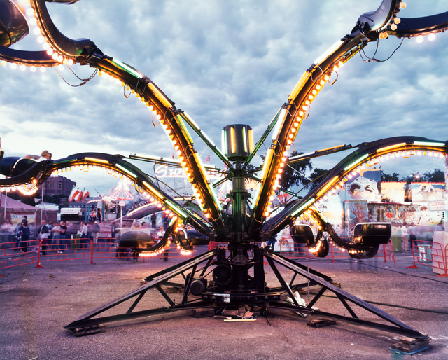 One of the rides featured at the 1982 Minnesota State Fair Midway.