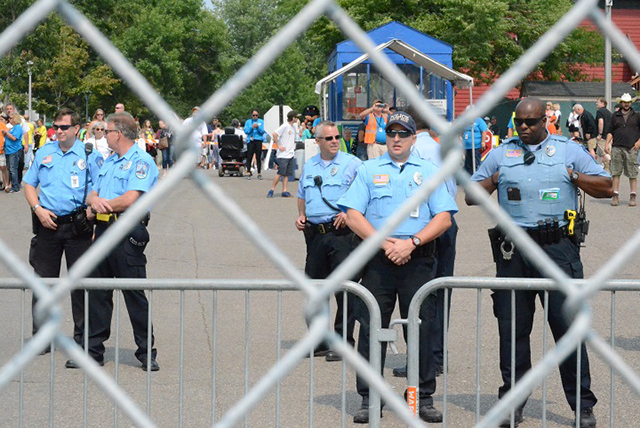St. Paul police set up barricades at fair entrances