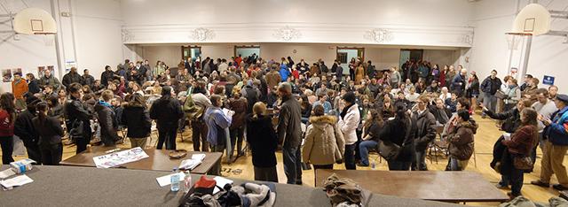 The 2008 DFL caucus at St. Stephens School in Minneapolis.