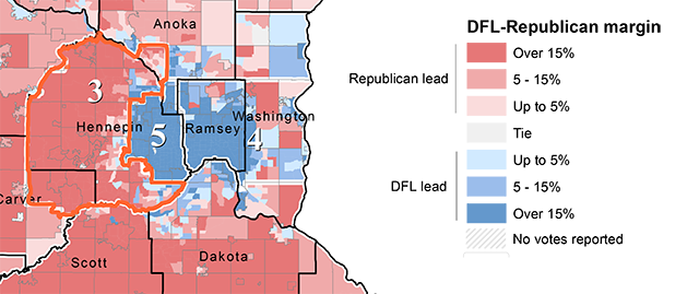Could Minnesota's 3rd District elect a Democrat? Here's what ... on southeast mn congressional districts, mn house districts, texas congressional districts, minnesota districts, map ca congressional districts, mn state congressional districts, map of mn judicial districts,