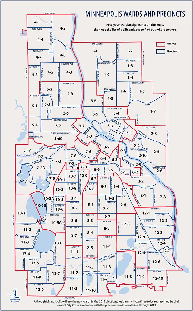 2012 Minneapolis election map