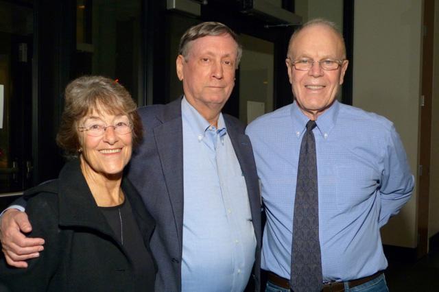 Former state Sen. Becky Lourey, MinnPost CEO Joel Kramer and Don Davies