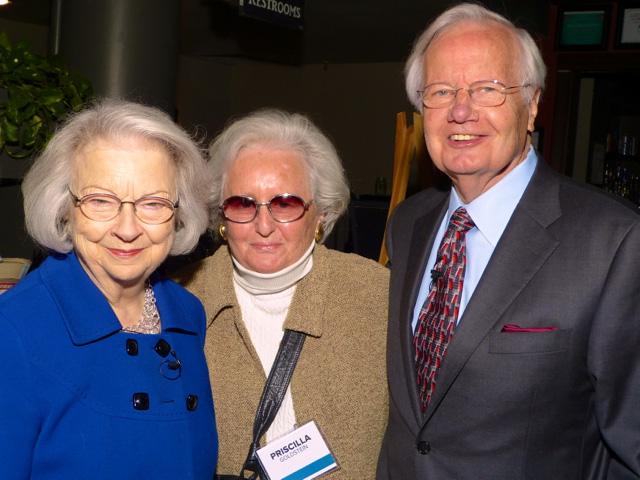Judith Moyers, Priscilla Goldstein and Bill Moyers
