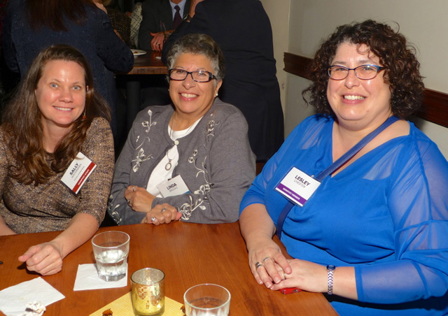 Sally Waterman, Linda Brooks and Lesley Chester