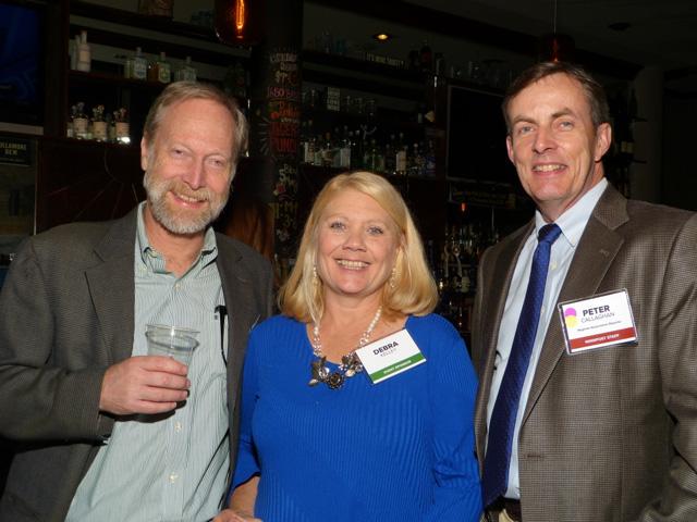 Michael Hall, Debra Kelley and MinnPost reporter Peter Callaghan