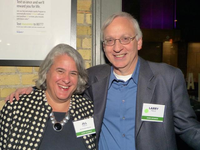 MinnPost board member Jill Field and Larry Field