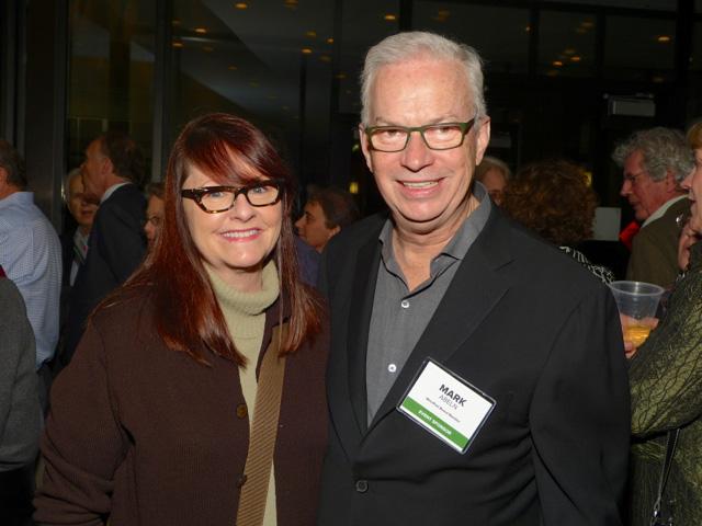 Monica Little and MinnPost board member Mark Abeln