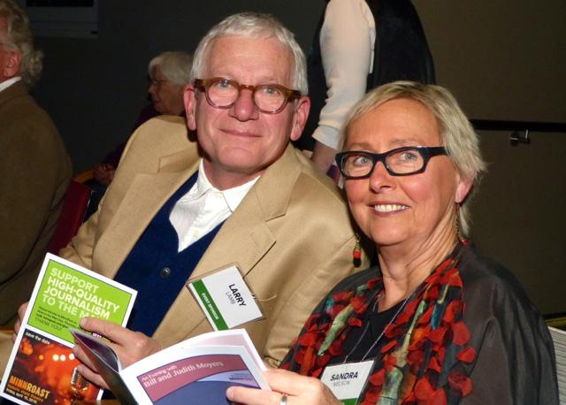 Larry Lamb and Sandra Nelson