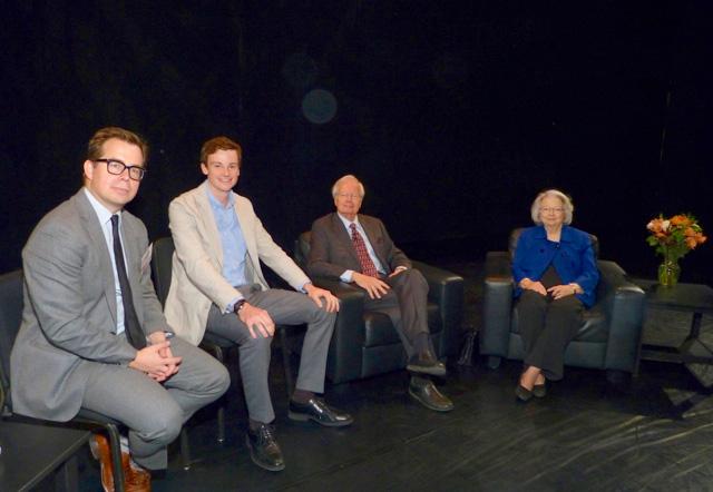 Andrew Putz, Henry Moyers, Bill and Judith Moyers