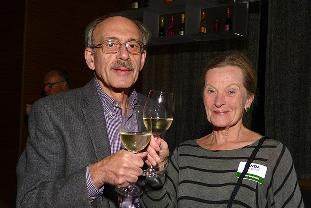 Anniversary party sponsors Alan and Linda Shapiro