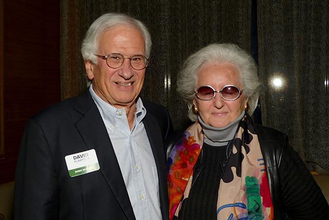 Anniversary party sponsor David Plimpton and Priscilla Pierce Goldstein
