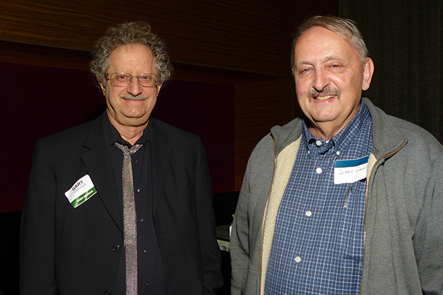 Anniversary party sponsor Gary Gardner and Jerry Cohen