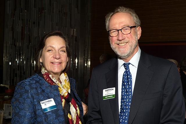 Rachael Scherer and Anniversary party sponsor Warren Kelly
