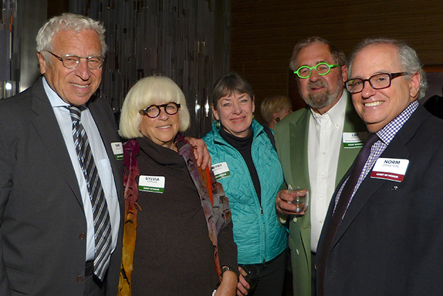 Sam and Sylvia Kaplan, Terry Saario, Lee Lynch and Norm Ornstein