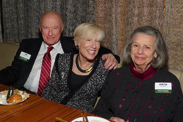 Anniversary party sponsors Jim Johnson, Kita McVay and Anita Kunin
