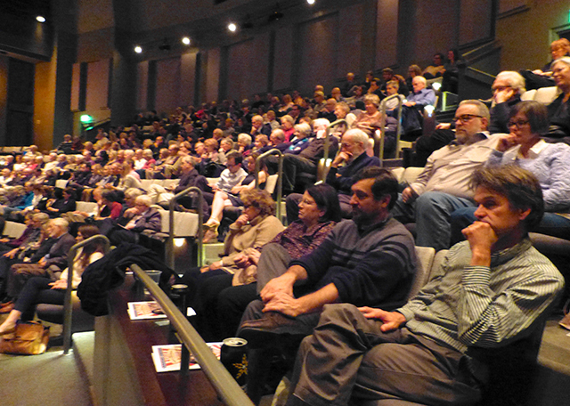 A packed house at the Cowles Center for the program