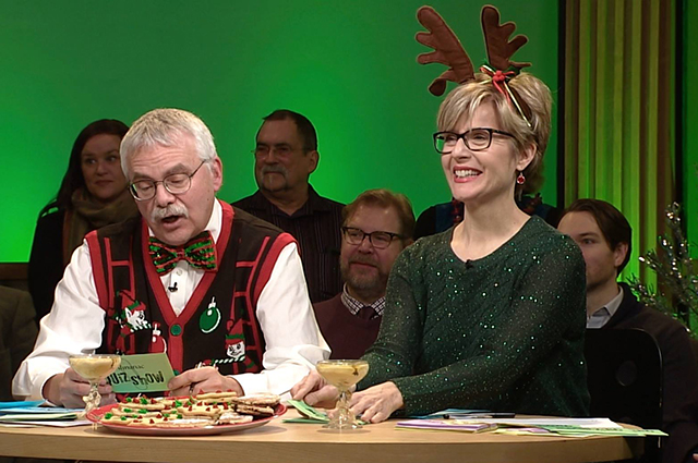 """Almanac"" hosts Eric Eskola and Cathy Wurzer oversee the proceedings."