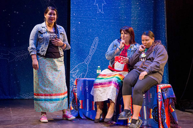 An image from the 2017 Native American Ten Minute Play Festival.