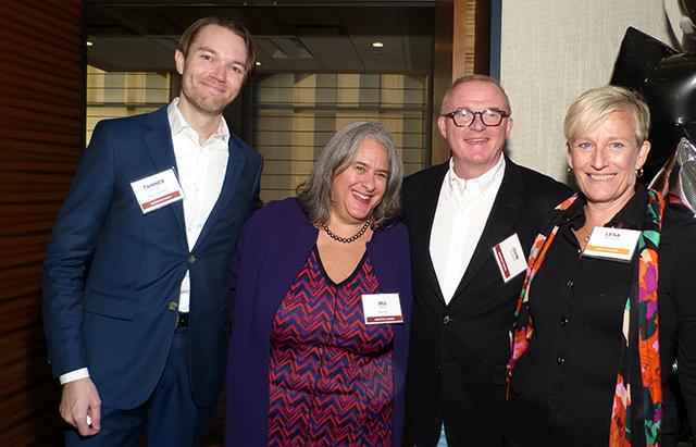 Tanner Curl, Jill Field, John and Lesa Tieszen