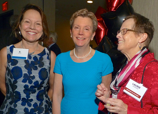 B. Kyle, Pat Effenberger and MinnPost co-founder Laurie Kramer