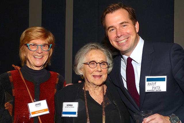 Jane Mauer, Sonia Bowe-Gutman and MinnPost editor Andrew Putz