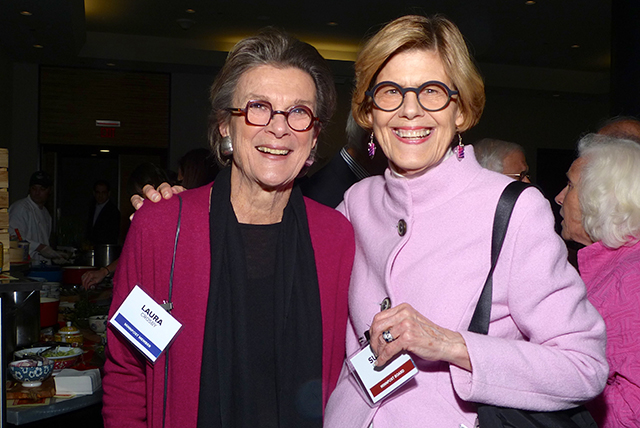 Laura Crosby and MinnPost board member Susan Plimpton