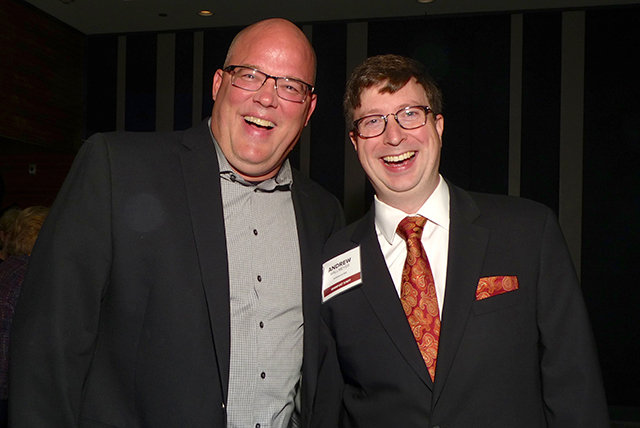 Dean Larson and MinnPost CEO Andrew Wallmeyer