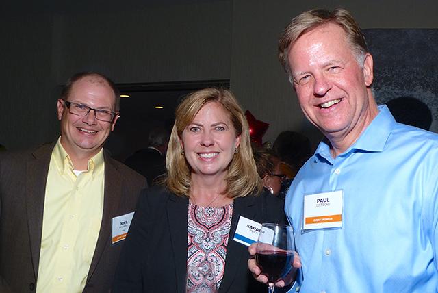 Event sponsor Joel Ulland, Sarah Psick and event sponsor Paul Ostrow