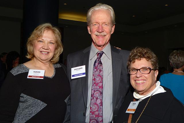 Susan Albright, Richard Knuth and event sponsor Barb Davis