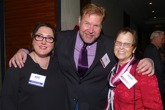 Kippy Freund, Corey Anderson and Laurie Kramer