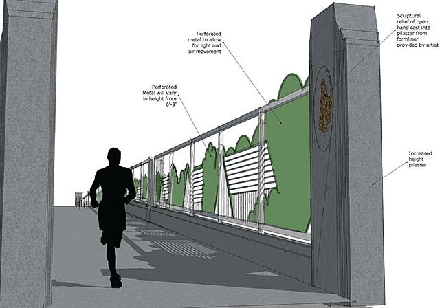 A rendering of the 40th Street Pedestrian Bridge concept.
