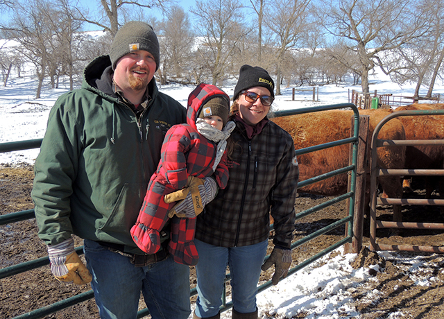 Abe and Cally Jergenson, with their 1-year-old son, Suede.