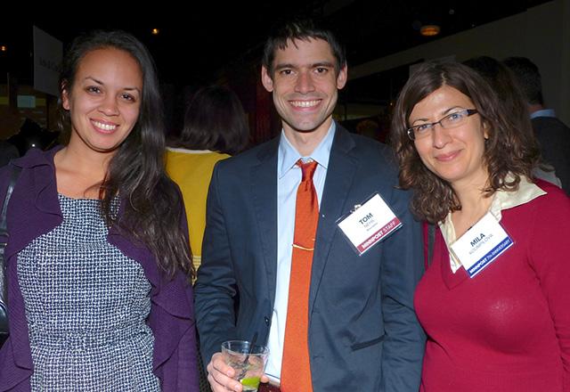 Maya Rao, MinnPost news editor Tom Nehil and Mila Koumpilova