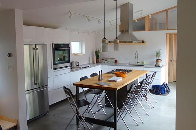 The unit's kitchen