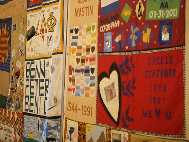 The AIDS Memorial Quilt segment now on display at the Minnesota State Capitol.