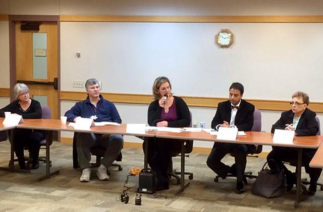 Roundtable discussion at Anoka-Metro Regional Treatment Center