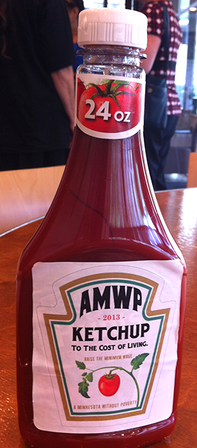 A Minnesota Without Poverty's ketchup bottle