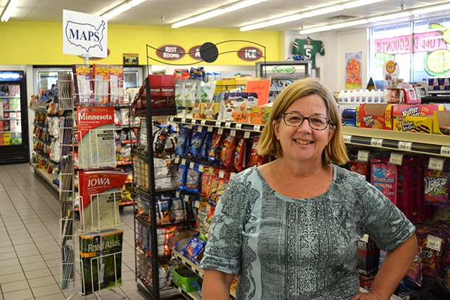 Anita Lang, co-owner of Lang's One Stop Market off of Highway 100