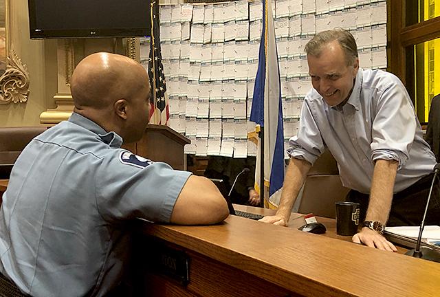 Police Chief Medaria Arradondo and Cam Gordon