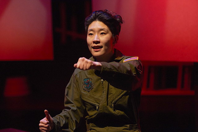 "Audrey Park in a scene from ""Grounded."""
