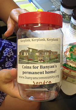 Banyan kids collect change from friends and family to help raise $5 million to build a community center.