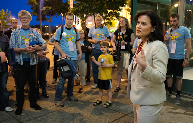 Betsy Hodges and supporters