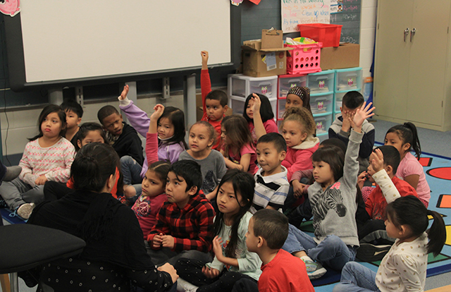 Danelle Imbertson and Bruce Vento Elementary students