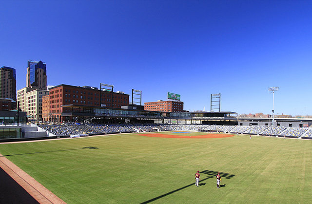 A view of CHS Field from the outfield.